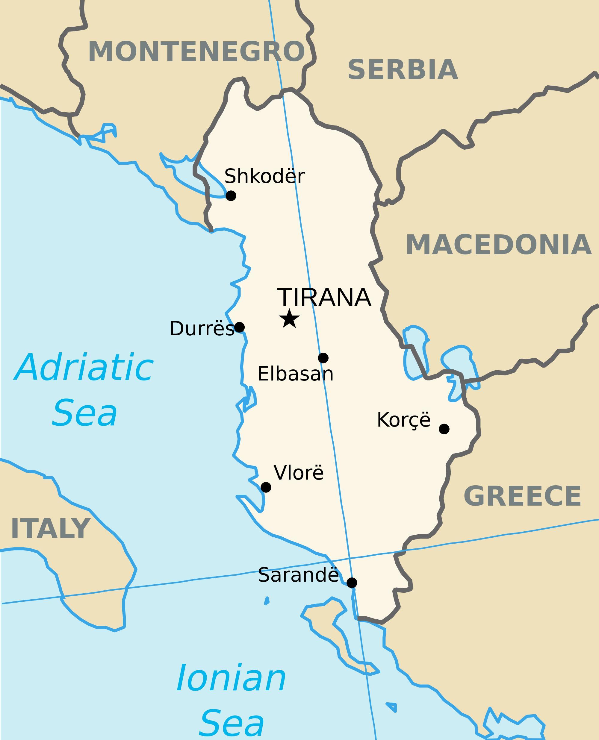 Saranda Albania Terkep Terkep Saranda Albania Del Europaban