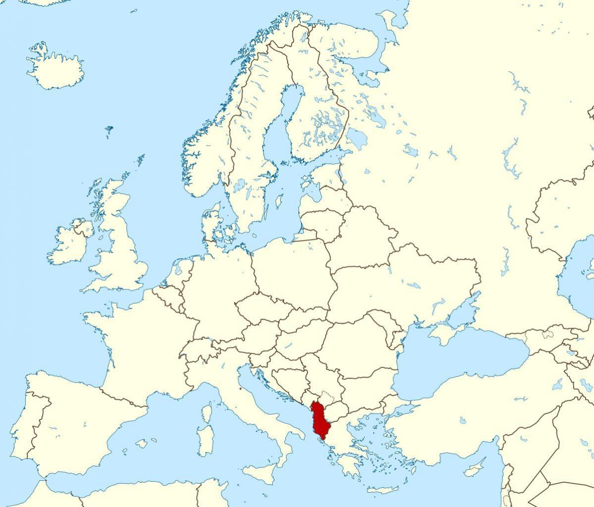 Albania A Vilag Terkep Vilag Terkepe Albania Del Europaban Europa