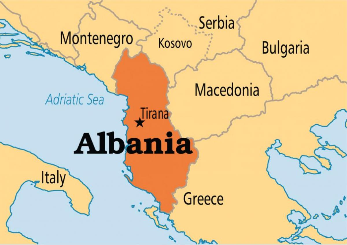 Albania Terkep Terkep Amely Albania Del Europaban Europa
