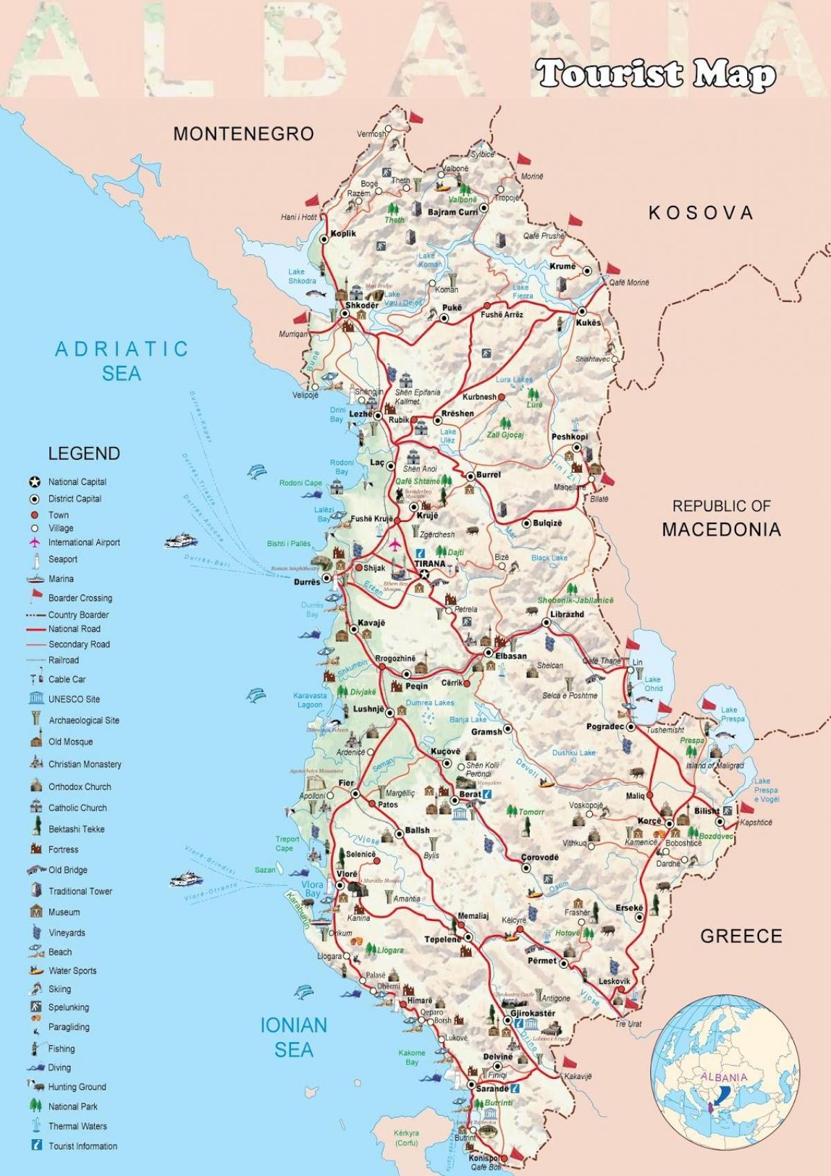 Dhermi Albania Terkep Dhermi Terkep Albania Del Europaban