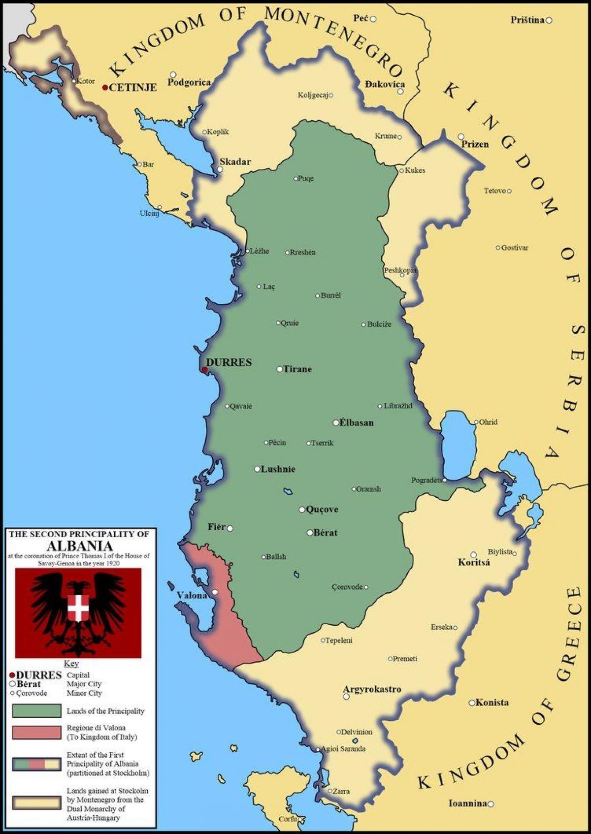 Durres Albania Terkep Terkep Durres Albania Del Europaban Europa